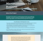 Microeconomics for Business by Constantin Ogloblin, John Brown, John King, and William Levernier
