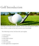 Introduction to Golf (UGA) by James Castle, Ilse Mason, Sophie Walter, Stephen Bridges, and Stephen Balfour